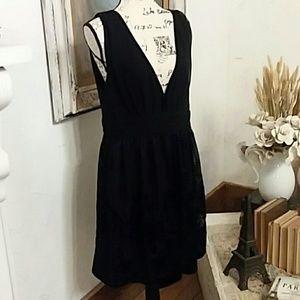 H&M Evening Cocktail Dress Chiffon/Velvet Sz 14